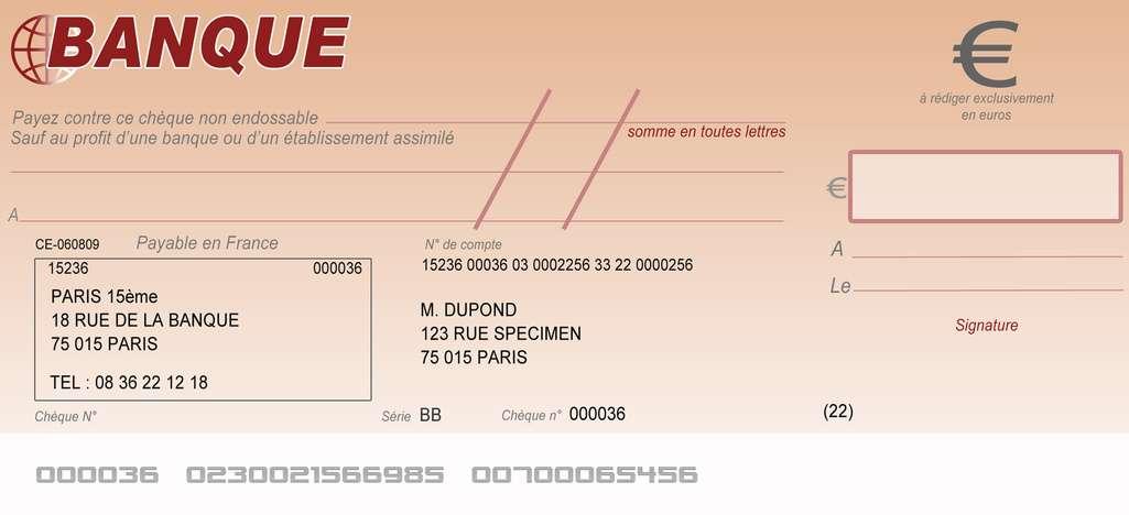 cheque de banque